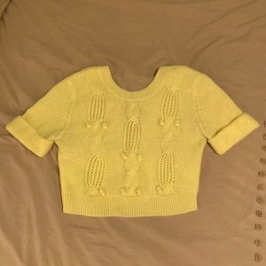 Anthropologie yellow sweater.